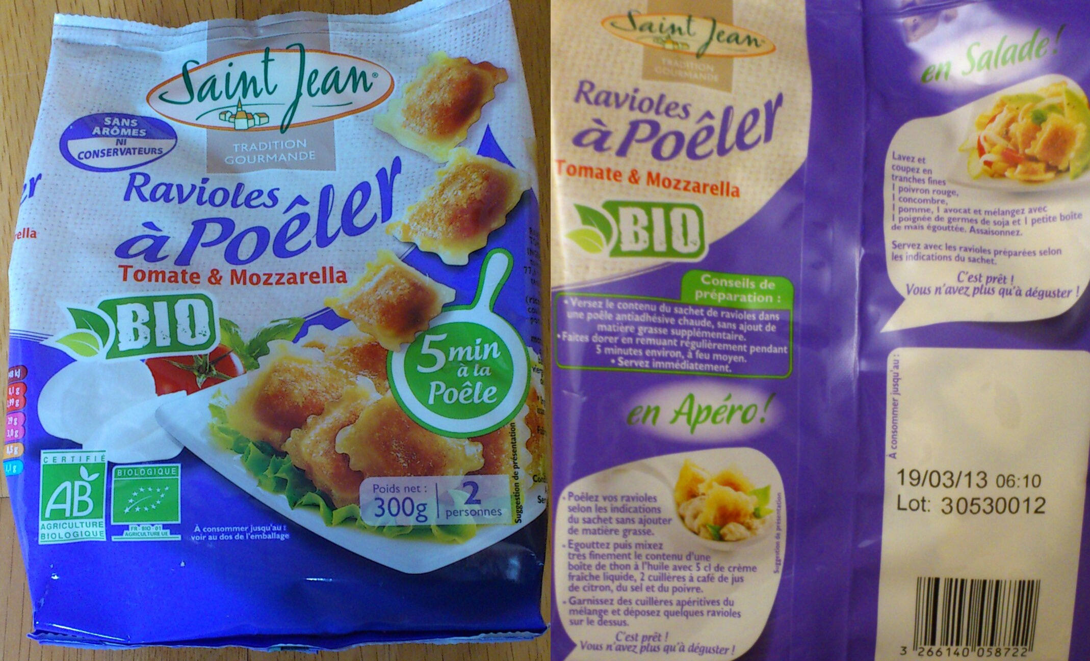 Packaging Ravioles à Poêler