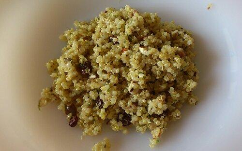 La salade de quinoa dans l'assiette !