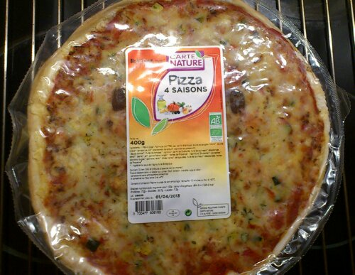 Le packaging de la pizza