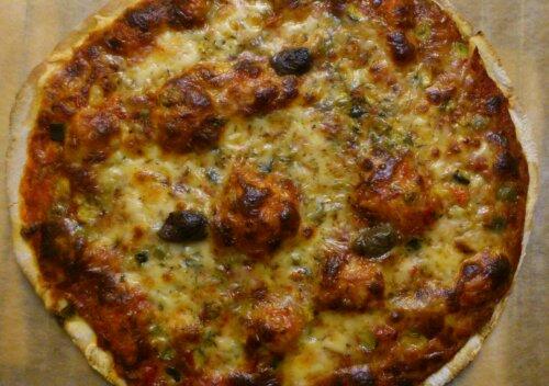 La pizza est cuite !